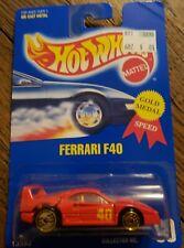 HOT WHEELS 1995 GOLD MEDAL SPEED SERIES Ferrari F40 #69 13582