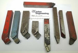 "Job lot of Assorted Carbide Lathe Turning Tools. 3/4"" Shank."