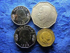 TANZANIA 1 SHILINGI 1992, 5 SHILINGI 1971, 1993, 50 SHILINGI 1996