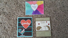 New listing 3 Handmade Stampin Up Greeting Cards, Roost, Hedgehugs, Mea 00004000 nt to Be