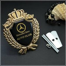 New Metal Luxury Auto Car Grille Badge Emblem Logo Fit for Mercedes Benz C E AMG