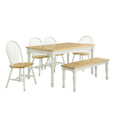Wooden Dining Chairs Home Kitchen Dining Furniture Set Of 2 White And Oak