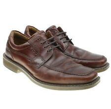 46c655404b82b Ecco Light Brown Leather Casual Oxford Apron Toe Lace Up Shoes Mens 41 7 7.5