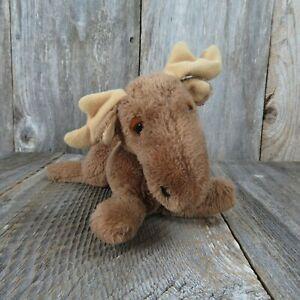 Vintage Moose Plush Dakin Maxie 1978 Stuffed Animal Ground Nutshells Clippings