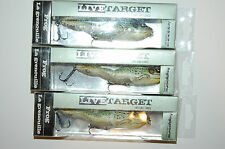"""3 lures koppers live target surface walking frog 4 1/8"""" 5/8oz green yellow"""