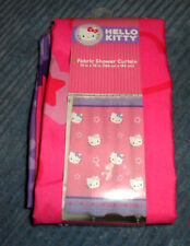 Sanrio Hello Kitty Girl Multi-Color Cats Kittens Pictorial Fabric Shower Curtain