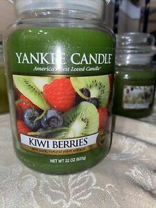 Yankee Candle - Retired - KIWI BERRIES - Large 22oz - Jar Candle