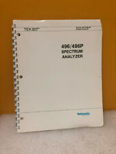 Tektronix 070-3480-00 496/496P Spectrum Analyzer Operators Manual