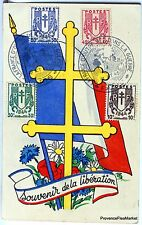 France Carte Maximum  1945 BLASON SOUVENIR DE LA LIBERATION    Yt 673