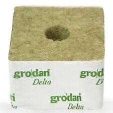 50 * Cubes de laine de roche Grodan DELTA 100mm - 27/35 (petit trou)