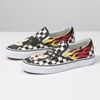 Vans x Disney Mickey & Minnie Checker Flame Slip-On Red/Black -VN0A38F7UJ41