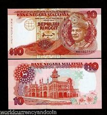 MALAYSIA 10 RINGGIT P38 1995 KING G&D UNC WORLD CURRENCY MONEY BILL BANK NOTE