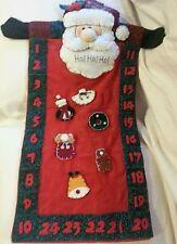 Countdown to Christmas Santa Claus Advent Calendar w/ 6 Pieces Nice!