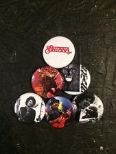 """1.25"""" Carlos Santana pin back button set of 6"""