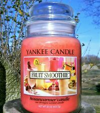 "Yankee Candle Retired ""FRUIT SMOOTHIE"" ~ Large 22 oz ~ WHITE LABEL~ RARE ~ NEW"