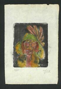 Radierung signiert OTTODIX - auf Original Papier der 20er
