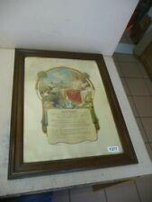 1377. Alter Meisterbrief mit Rahmen 1924