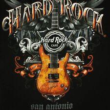 Hard Rock Cafe Mens Small San Antonio Texas TX Fender Guitar Music Black T Shirt