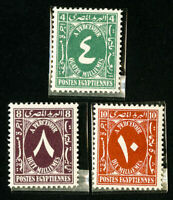 Egypt Stamps # 3 Values All Signed from Farouk NH