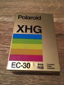 POLAROID VHS EC30 Extra High Grade Philips XHG Camcorder Cassette Tape