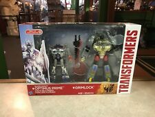 2014 Transformers Silver Knight Target OPTIMUS PRIME GRIMLOCK 2 Pack Figure NIB