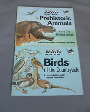 Birds of the Countryside / Prehsitoric Animals - Magpie Pocket Book x 2 - TV