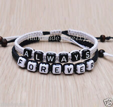 Valentine's day gifts Couples Bracelet always forever bracelet Friendship Gift