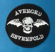 AVENGED SEVENFOLD HEAVY METAL BAND MUSIC DEATH BAT SEW ON IRON ON PATCH BADGE