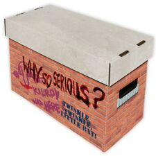 Comic Book Cardboard Storage Box Graffiti Brick Wall Artwork, for 150-175 comics