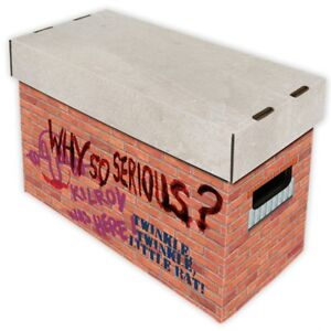 Comic Book Cardboard Storage Box Graffiti Brick Wall Artwork, for 150-175 comics