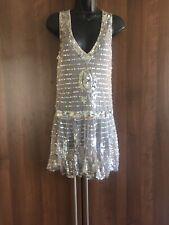 Anna Sui Sequin Blush Flapper Dress Sz 8