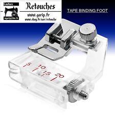 Pied  à border réglable, biais pieds-de-biche machine à coudre F071 - XF7243-001