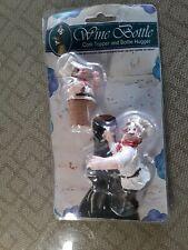 """Vintage Wine Bottle Cork Stopper Topper & Bottle Hugger """"Whimsical Characters"""" !"""
