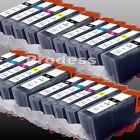 lot de cartouches d'encre compatible imprimante Canon IP IX MG MX MP Pixma