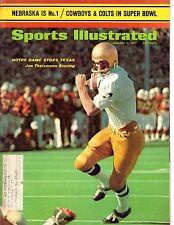 1971 1/11 Sports Illustrated football magazine, Joe Theismann, Notre Dame GOOD
