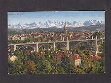 View of Bern & The Alps, Switzerland