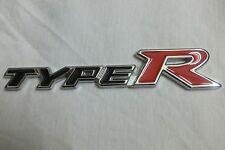 Metal TYPER Black Red Racing Badge Decal Emblem For Honda Civic Accord TYPE-R