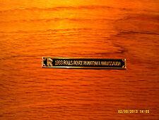 Pocher 1/8 1933 Rolls Royce Phantom II Ambassador Metal Display Plaque