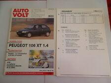 AUTO VOLT PEUGEOT 106 XT 1.4  (FICHES ET SCHEMAS PLASTIFIES)