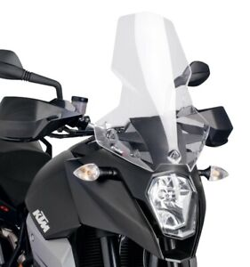 PUIG SCREEN CLEAR TOURING WINDSCREEN FOR KTM 990 SUPERMOTO SMT 2009 > 2012