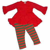 Girls Christmas Ruffle Winter Outfit Outfit