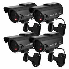 1/2/4 Outdoor Solar Dummy Security Camera Fake CCTV LED Flashing Light Imitation