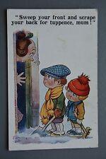 R&L Postcard: Comic, Inter Art Dudley Buxton 3472, Tuppence, Odd Jobs, Shocked