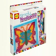 Kids Butterfly Beginner Stitching Kit Children Needle Point Sewing Craft Project