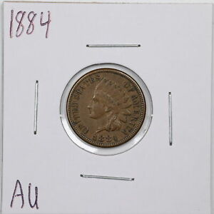 1884 1C Indian Head Cent in AU Condition #05893