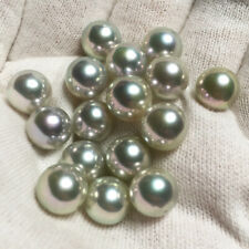 A+ 8.5-9mm Rare Natural Genuine Akoya Pearl Gray Blue From Japan Wholesale 2pc