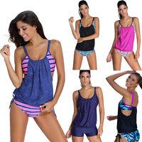 Sport Tankini Set Damen Badeanzug Schwimmanzug Bikini Swimsuit Schwimm Beachwear