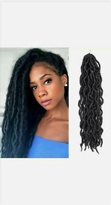"""18"""" Nu Locs Crochet Hair Wave Braid Goddess Faux Locs Crochet Braiding Hair"""