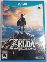 The Legend of Zelda Breath of the Wild Brand New Sealed NINTENDO WII U Game BOTW