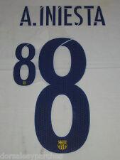 Dorsal nombre y número A. INIESTA #8 para camiseta FC Barcelona (Desde Madrid)